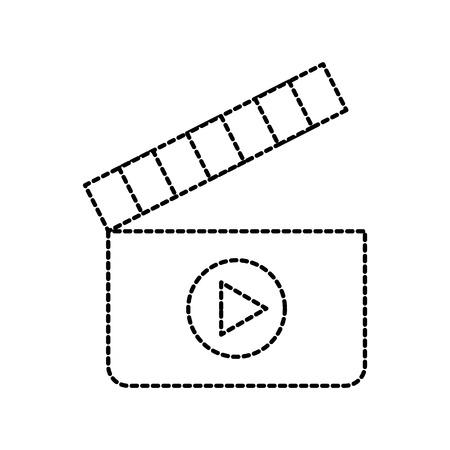 film clapper movie play equipment image vector illustration Illustration