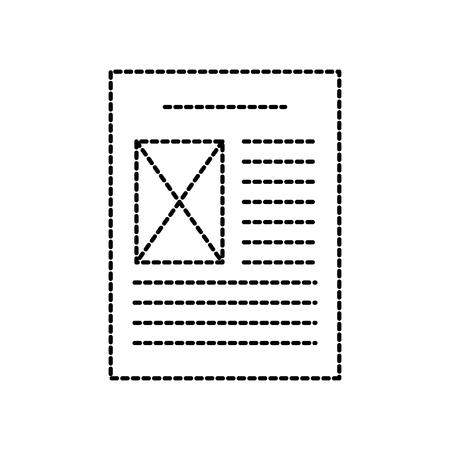 file document digital archive paper vector illustration Illustration