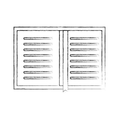 overhead view of a book personal organiser planner bookmark vector illustration Ilustrace