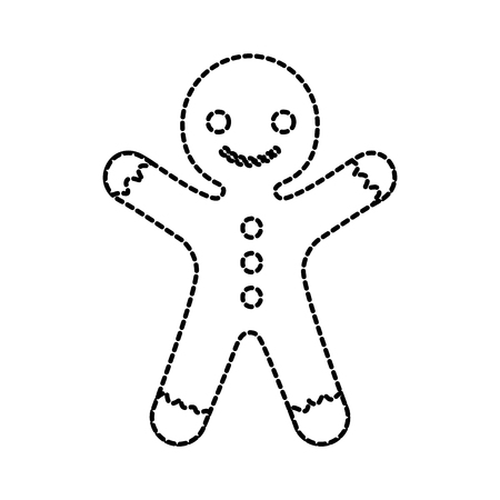 gingerman homemade christmas gingerbread cookie style vector illustration Illustration
