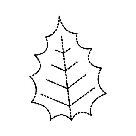 christmas leaf natural decoration ornament vector illustration