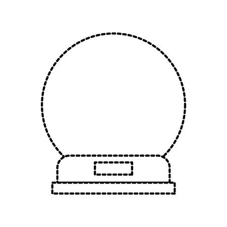 snowglobe glass wooden base decorative vector illustration