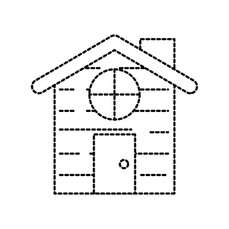 gingerbread house food christmas celebration vector illustration