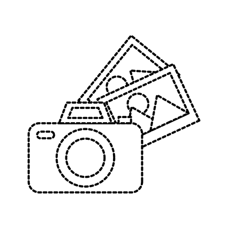 photographic camera photo gallery app vector illustration Illustration