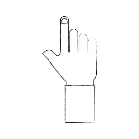 ハンド ポインター ジェスチャ記号アイコン ベクトル図  イラスト・ベクター素材