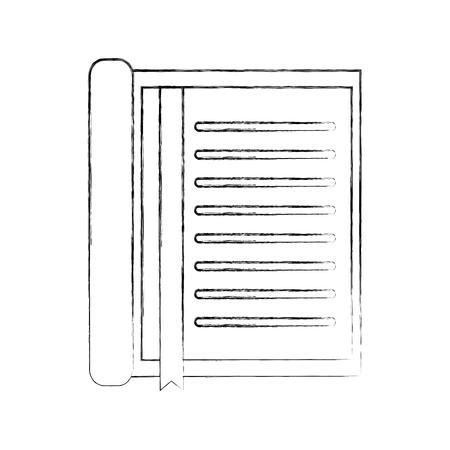 Taccuino con l'illustrazione di vettore dell'elemento dell'oggetto dell'ufficio della cancelleria del segnalibro Archivio Fotografico - 90278413
