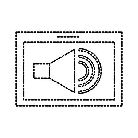 tablet speaker audio technology button online vector illustration