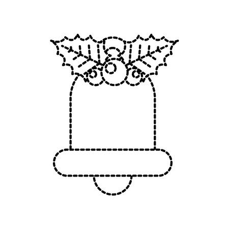 christmas bell holly berry decoration ornament vector illustration Illustration