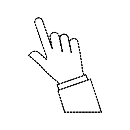 hand touch finger gesture icon vector illustration Illustration