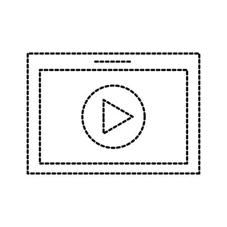 表技術ムービー再生ボタン オンライン ベクトル図