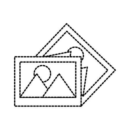 画像ギャラリー アルバム デジタル アプリケーションのベクトル図