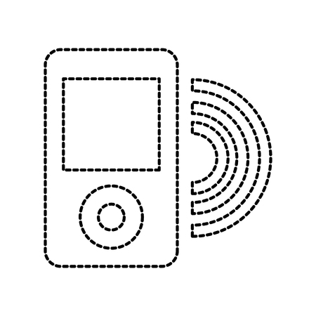mp4 音楽 wifi のインターネット アプリケーションのベクトル イラスト