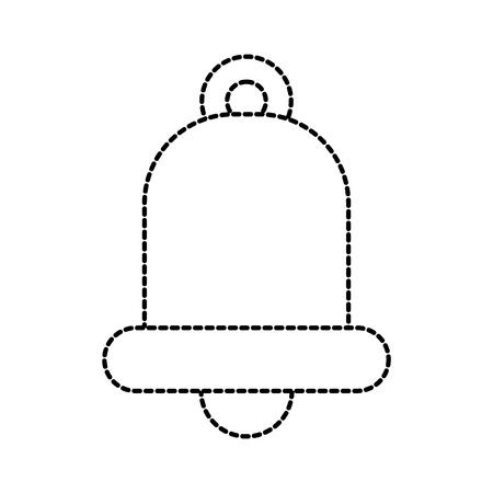 christmas jingle bell ornament celebration icon vector illustration Illustration