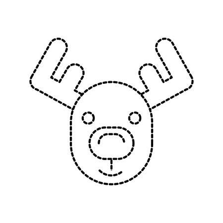 Kerst rendieren gehoornde dieren decoratie vector illustratie Stockfoto - 90278501