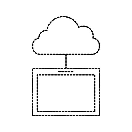 cloud computing tablet technology system vector illustration