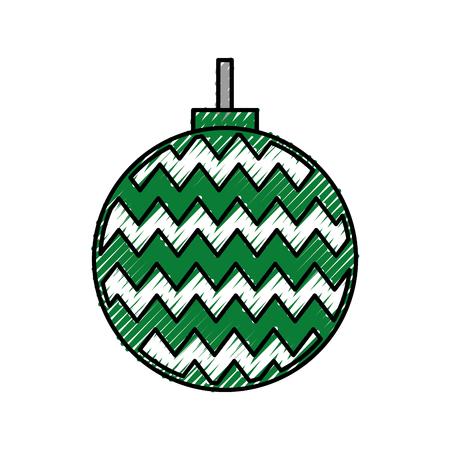 christmas ball decoration ornament image vector illustration