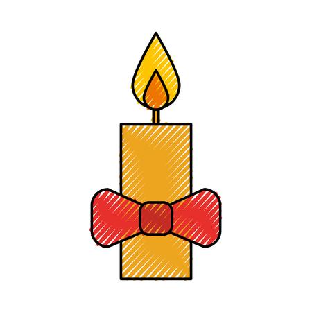 Natal vela wirth red bow ilustração vetorial de decoração Foto de archivo - 90278693