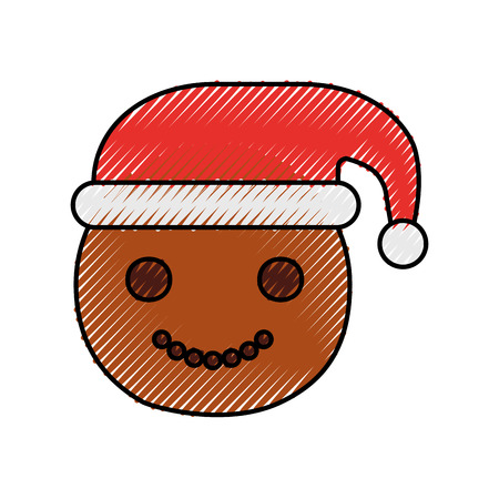 Lebkuchen-Art-Vektorillustration des Gingerman selbst gemachte Weihnachts Standard-Bild - 90280458