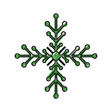 クリスマス雪の結晶冬装飾輝きベクトル イラスト  イラスト・ベクター素材