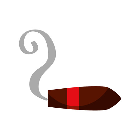 tobacco cigar burning smoke icon vector illustration Illusztráció