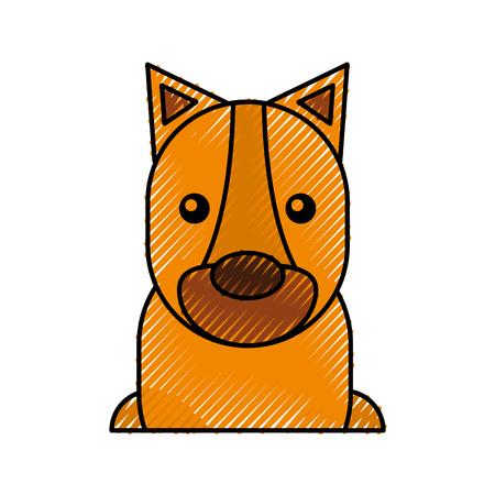 かわいい虎漫画赤ちゃん動物のベクトル図  イラスト・ベクター素材