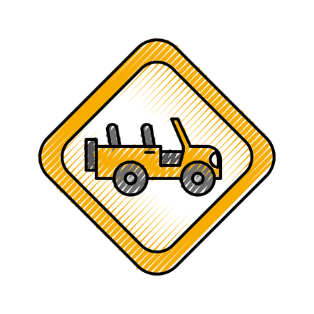 signal road car transport vector illustration