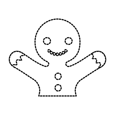 gingerman homemade christmas gingerbread cookie style vector illustration Stock Illustratie