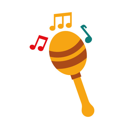 maracas note music instrument musical festival celebration vector illustration Stock Vector - 90294477