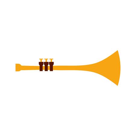 trompet wind muziekinstrument hoorn vector illustratie Stock Illustratie