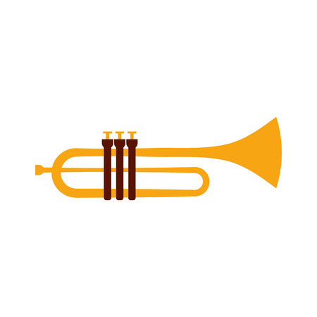 Trumpet instrument musical festival celebration vector illustration Иллюстрация