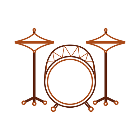 バッテリー楽器楽器ドラムアイコンベクトルイラスト