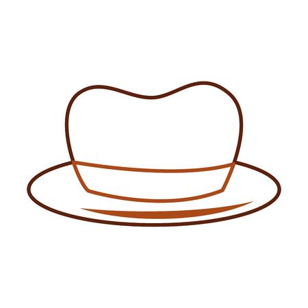 Hat for men accessory old fashion vector illustration Illustration