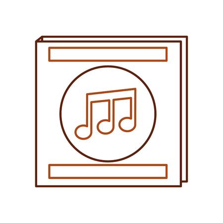 Envelope for music album note musical flat design vector illustration