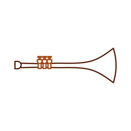 トランペット風楽器ホーンベクトルイラスト