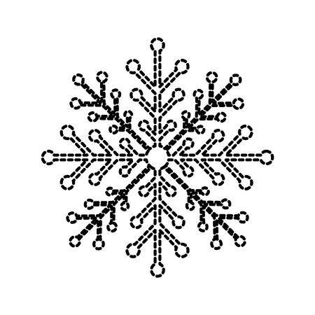 christmas snowflake winter decoration sparkle vector illustration Çizim