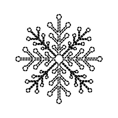 christmas snowflake winter decoration sparkle vector illustration Illustration