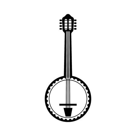 banjo jazz instrument musical festival celebration vector illustration