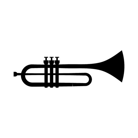 trumpet instrument musical festival celebration vector illustration