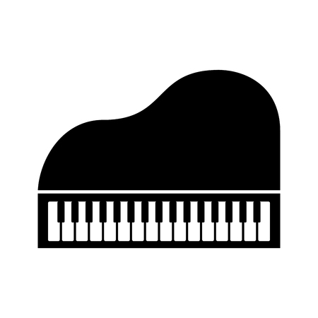 piano music instrument classic cartoon vector illustration