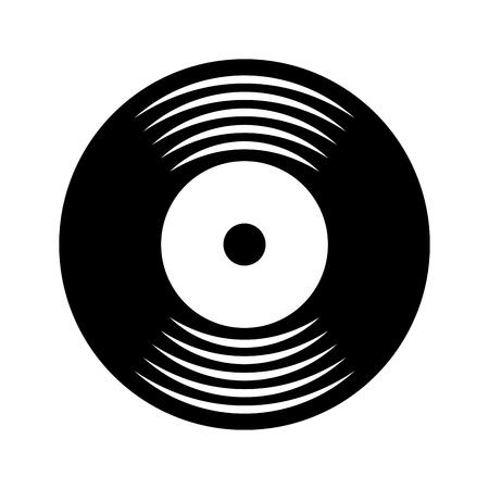 music vinyl disk vintage cartoon vector illustration Vectores