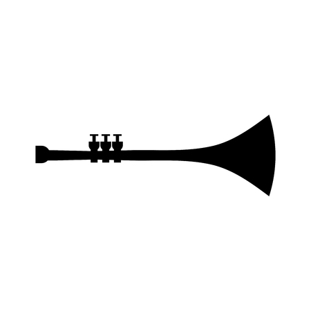 trumpet wind musical instrument horn vector illustration