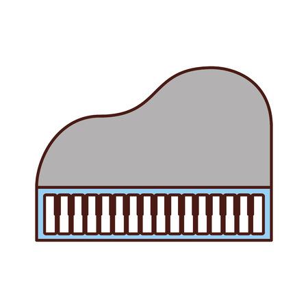 ピアノ音楽楽器クラシック漫画のベクトル図