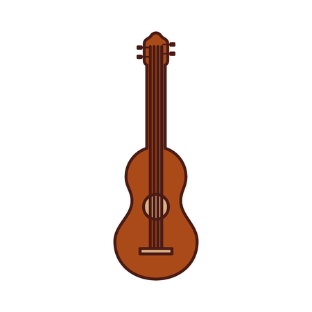 guitar instrument music acoustic vector illustration icon Stock Vector - 90294709