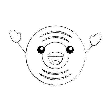 音楽ビニール ディスク ヴィンテージ漫画ベクトル図