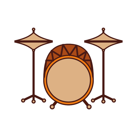 battery instrument musical drum icon vector illustration
