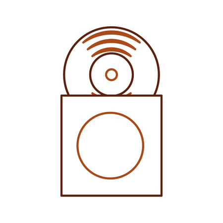 Pochette de la collection de musique avec disque vinyle en illustration vectorielle papercase Banque d'images - 90308529