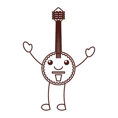 banjo jazz instrument musical festival vector illustration  イラスト・ベクター素材