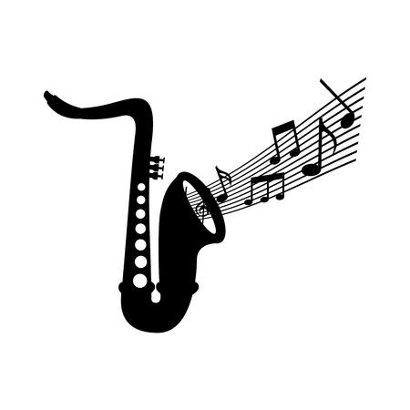 サックス注音楽ジャズの楽器祭ベクトル図
