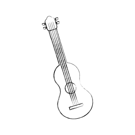 guitar instrument music acoustic sound vector illustration Stock Vector - 90294721