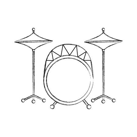 バッテリー楽器音楽ドラム アイコン ベクトル図